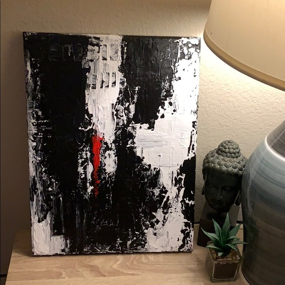"""Other - Original 12""""x16"""" Acrylic Abstract Canvas Painting."""